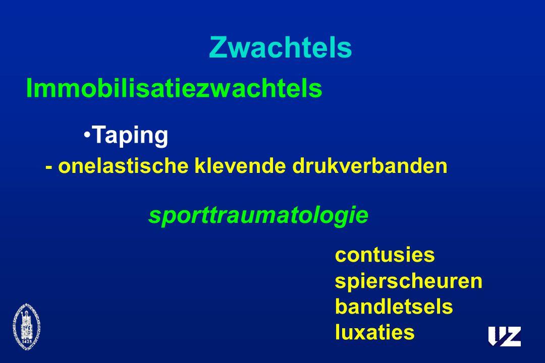 Zwachtels Immobilisatiezwachtels Taping sporttraumatologie