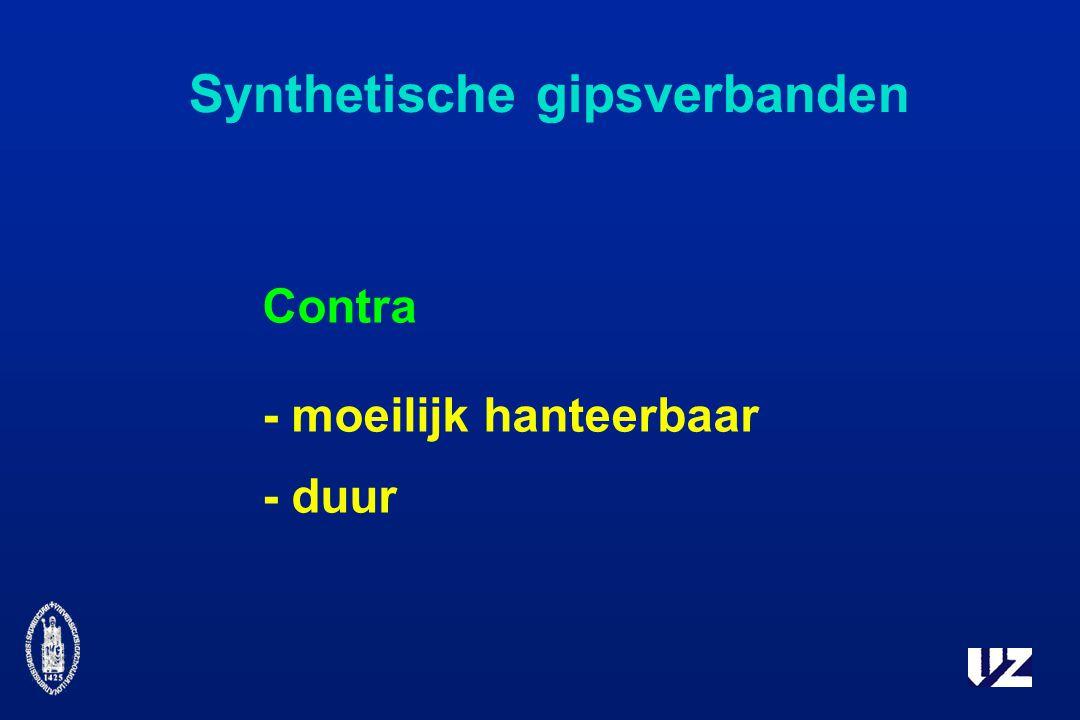 Synthetische gipsverbanden