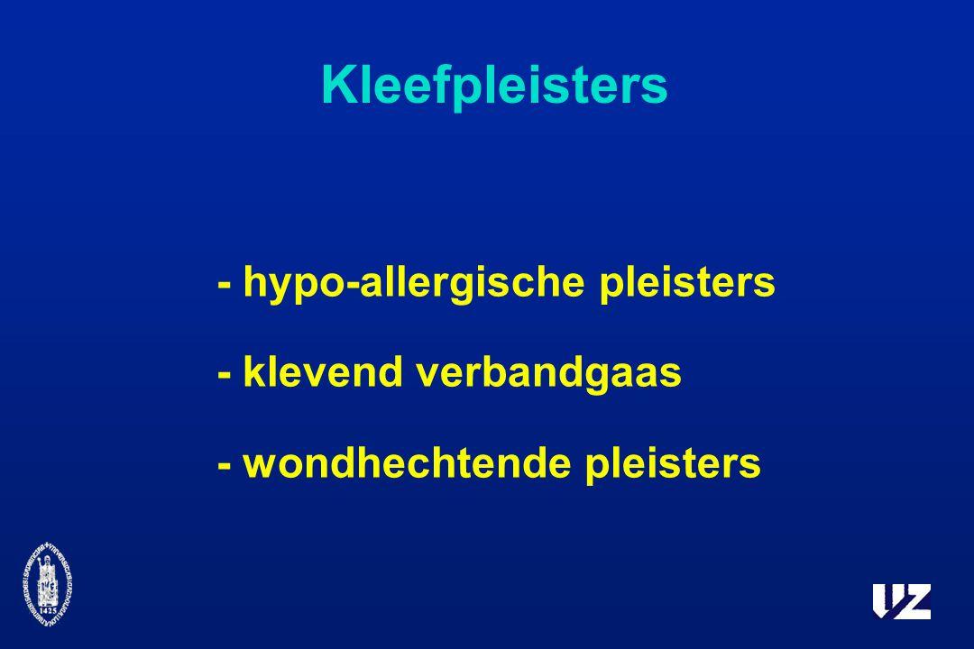 Kleefpleisters - hypo-allergische pleisters - klevend verbandgaas