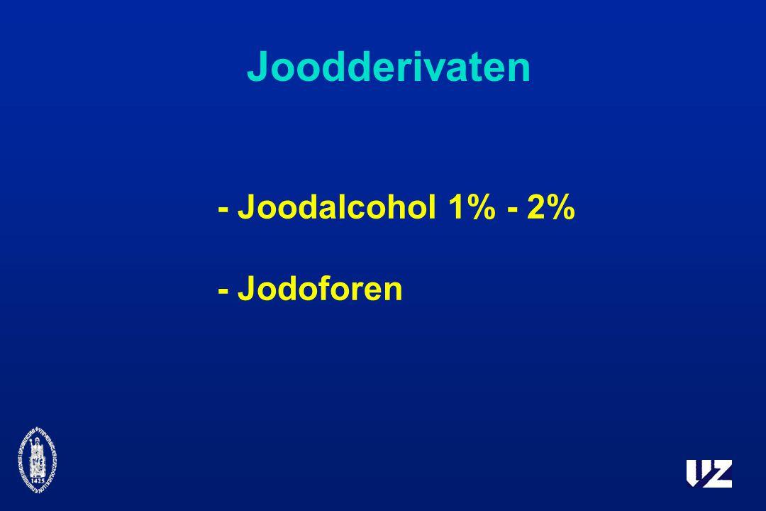 Joodderivaten - Joodalcohol 1% - 2% - Jodoforen