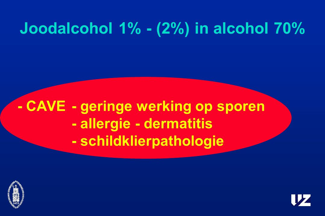 Joodalcohol 1% - (2%) in alcohol 70%