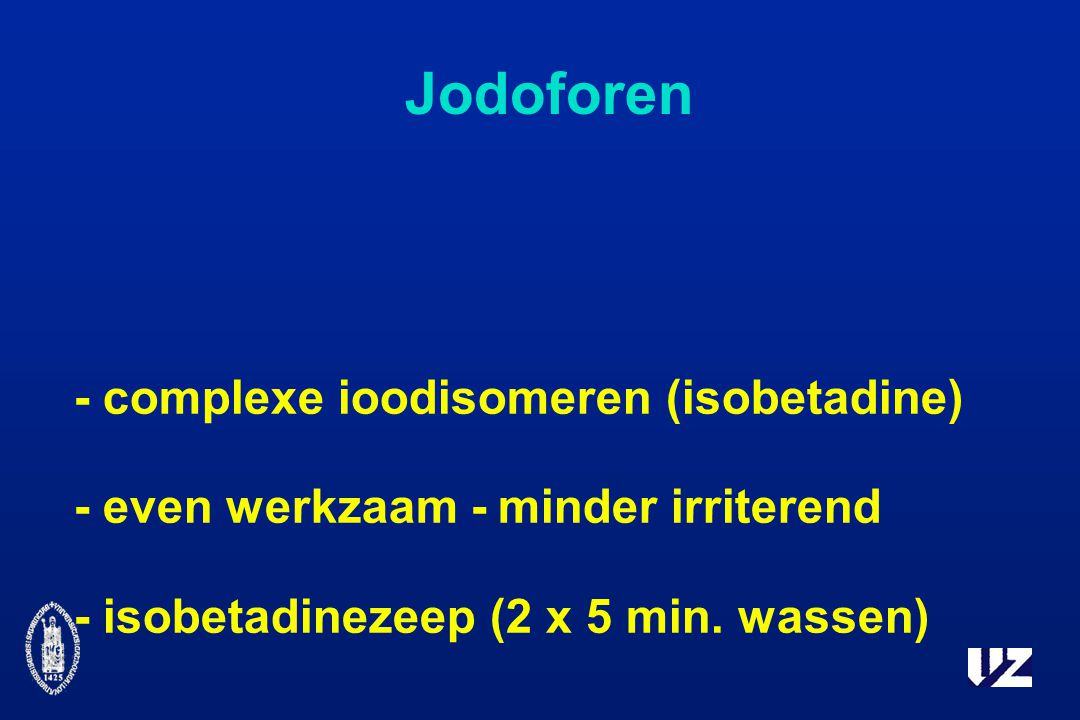 Jodoforen - complexe ioodisomeren (isobetadine)