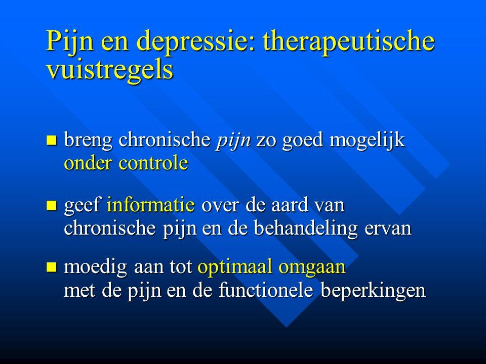 Pijn en depressie: therapeutische vuistregels