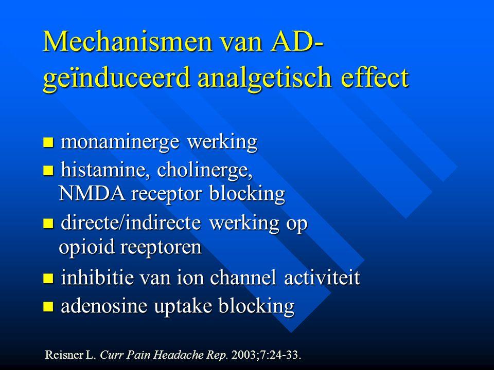 Mechanismen van AD-geïnduceerd analgetisch effect