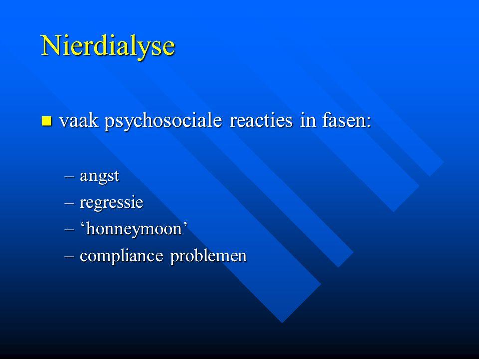 Nierdialyse vaak psychosociale reacties in fasen: a ngst regressie