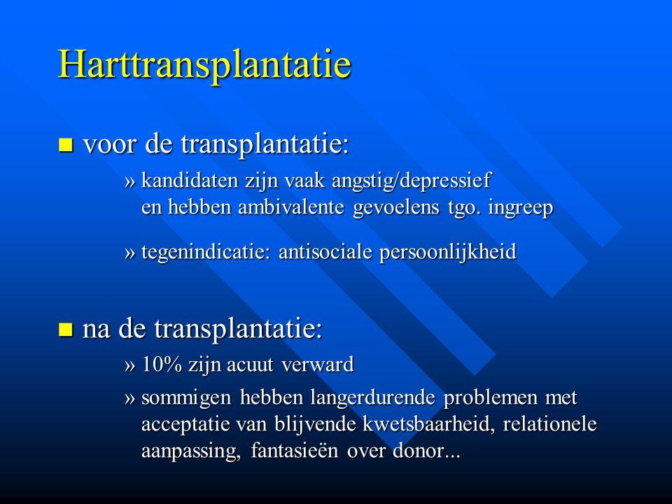 Harttransplantatie voor de transplantatie: na de transplantatie: