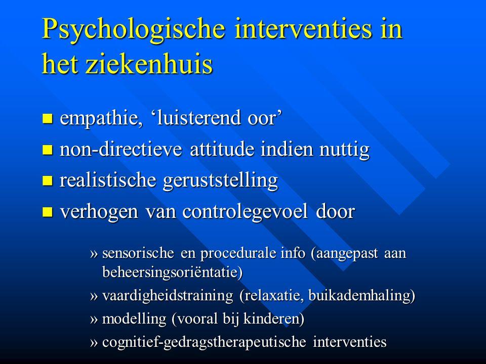 Psychologische interventies in het ziekenhuis
