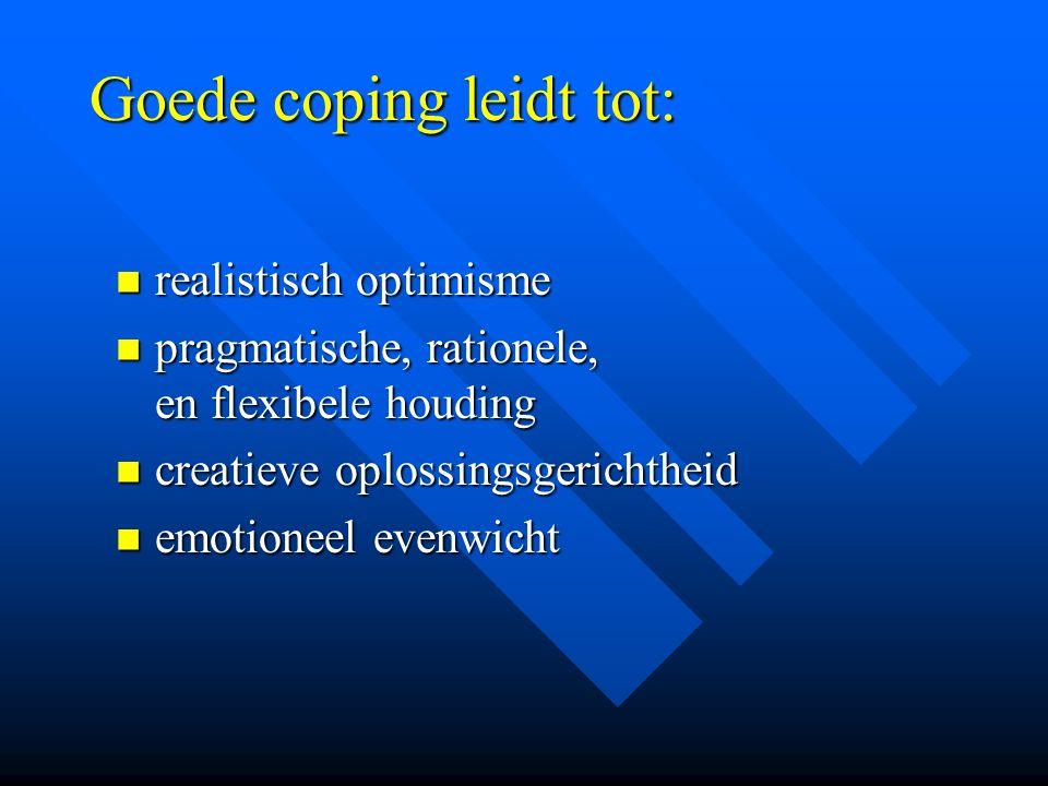 Goede coping leidt tot: