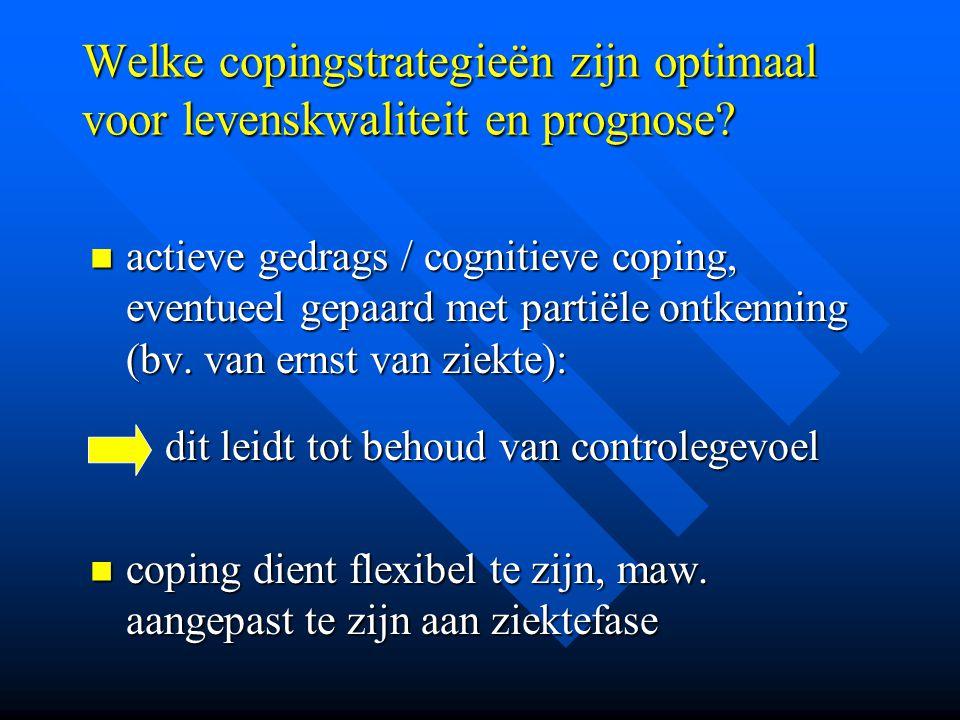 Welke copingstrategieën zijn optimaal voor levenskwaliteit en prognose