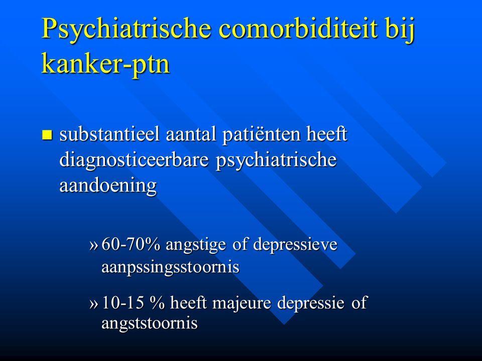 Psychiatrische comorbiditeit bij kanker-ptn
