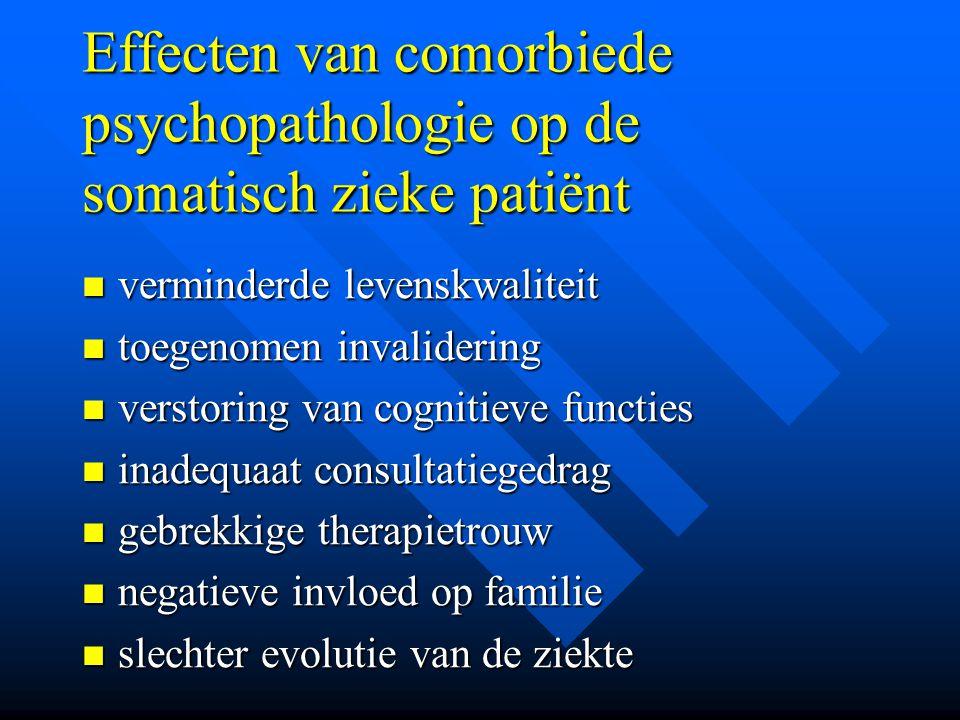Effecten van comorbiede psychopathologie op de somatisch zieke patiënt