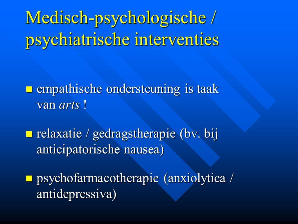 Medisch-psychologische / psychiatrische interventies