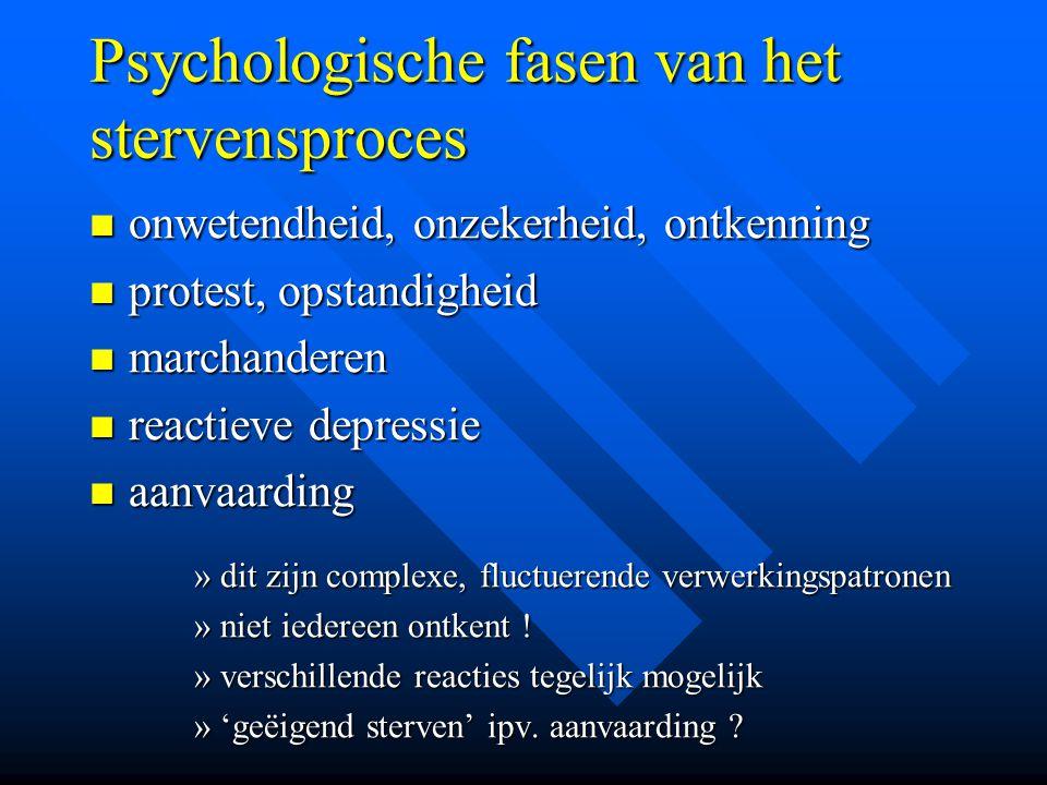 Psychologische fasen van het stervensproces