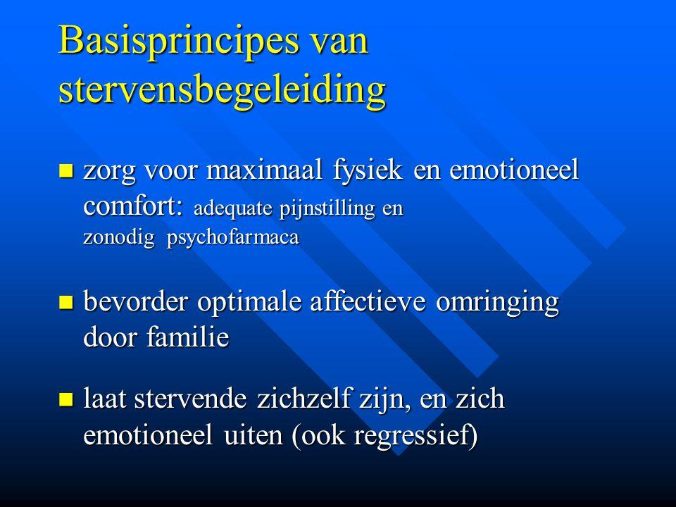 Basisprincipes van stervensbegeleiding