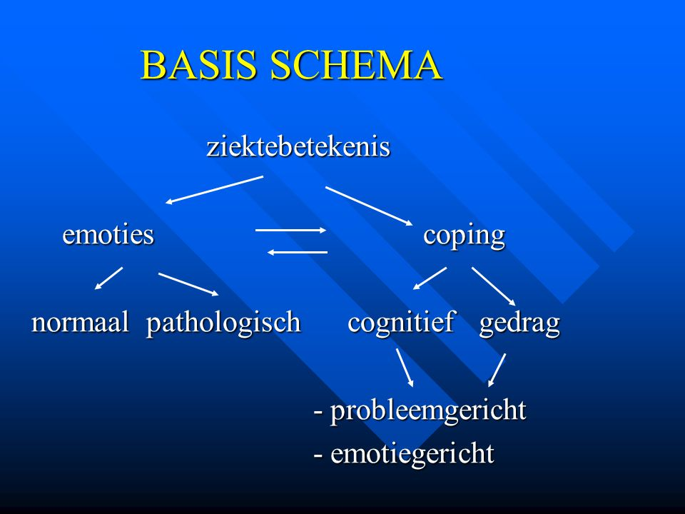 BASIS SCHEMA ziektebetekenis emoties coping