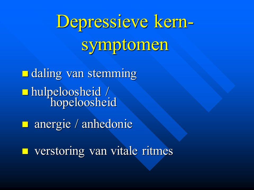Depressieve kern-symptomen