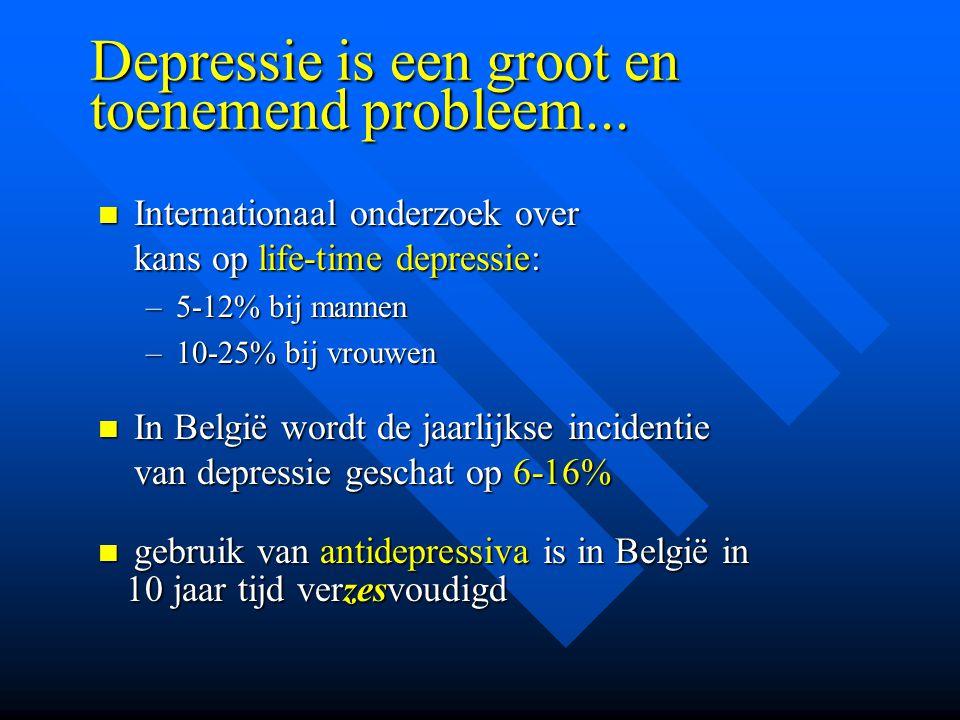 Depressie is een groot en toenemend probleem...