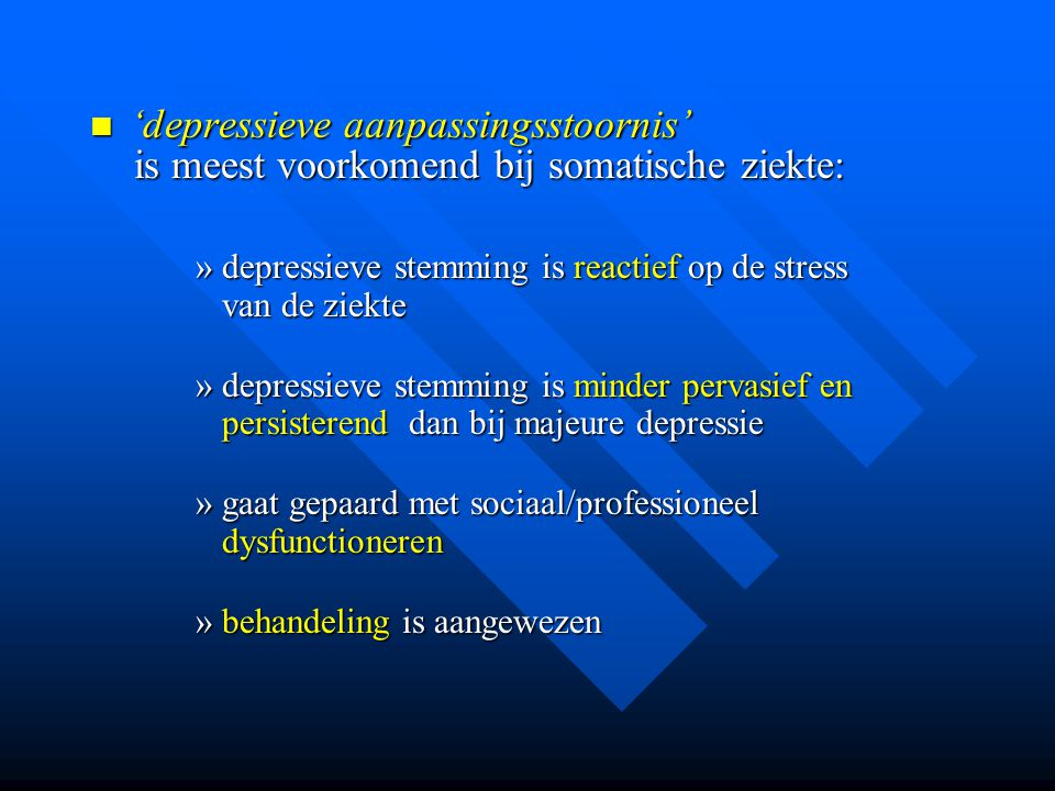 'depressieve aanpassingsstoornis'