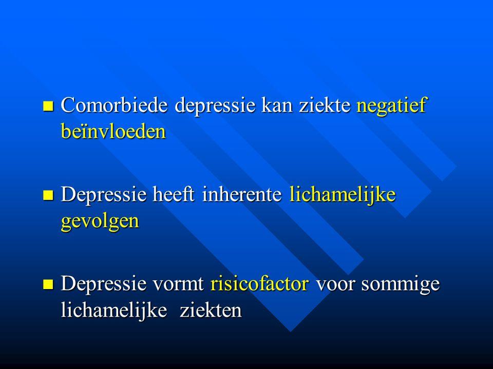 Comorbiede depressie kan ziekte negatief beïnvloeden