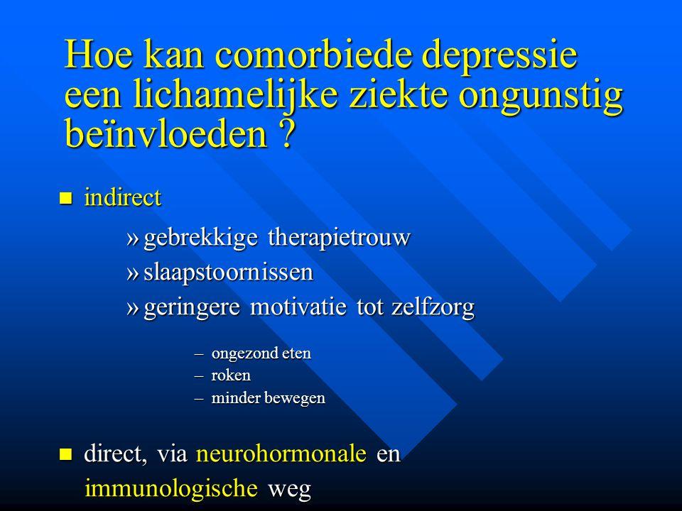Hoe kan comorbiede depressie een lichamelijke ziekte ongunstig beïnvloeden