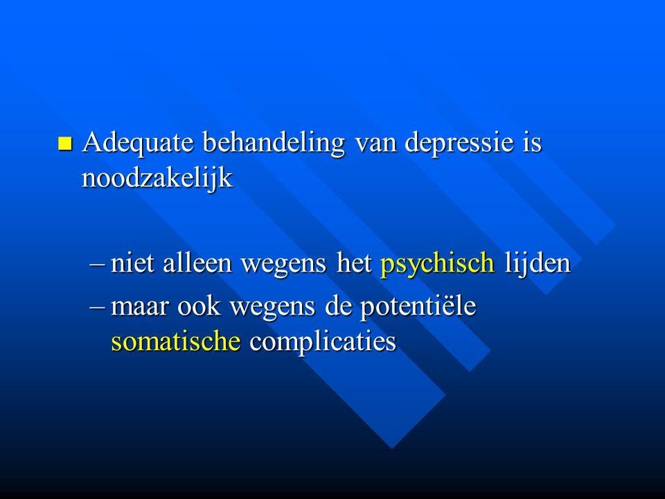 Adequate behandeling van depressie is noodzakelijk