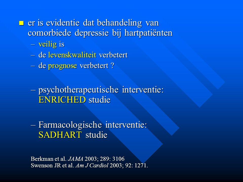 psychotherapeutische interventie: ENRICHED studie