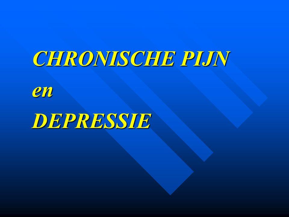 CHRONISCHE PIJN en DEPRESSIE