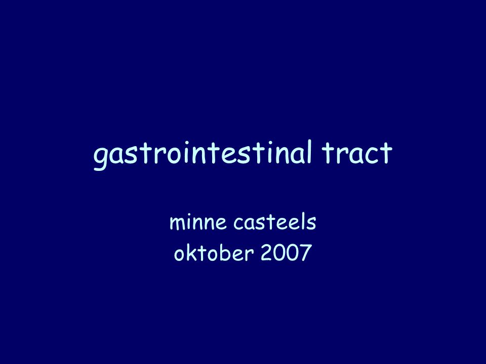 gastrointestinal tract