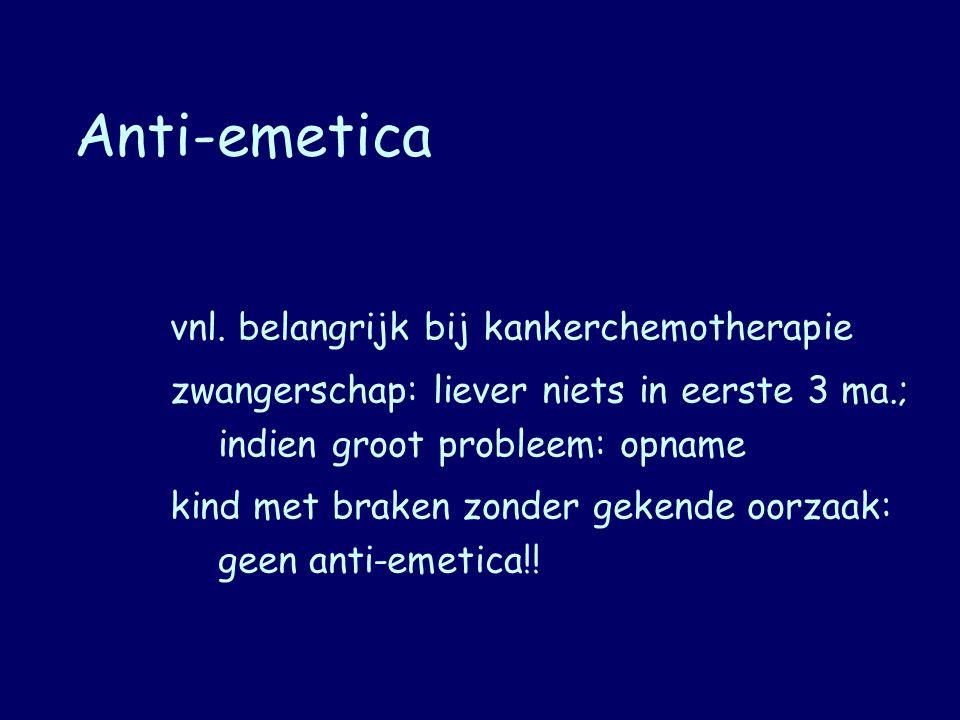 Anti-emetica vnl. belangrijk bij kankerchemotherapie