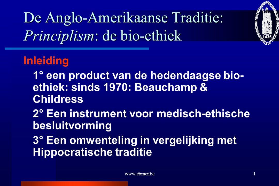 De Anglo-Amerikaanse Traditie: Principlism: de bio-ethiek