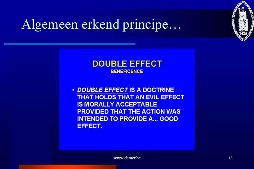 Algemeen erkend principe…