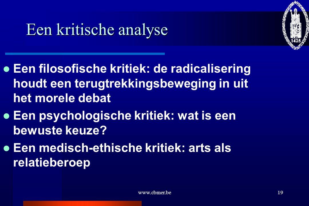 Een kritische analyse Een filosofische kritiek: de radicalisering houdt een terugtrekkingsbeweging in uit het morele debat.