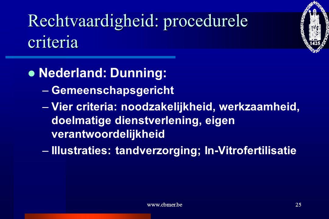 Rechtvaardigheid: procedurele criteria