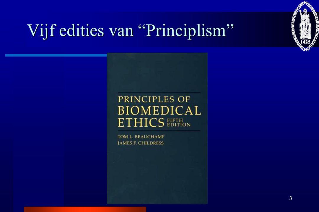 Vijf edities van Principlism
