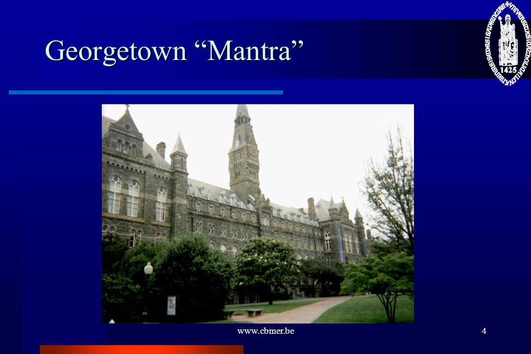 Georgetown Mantra www.cbmer.be