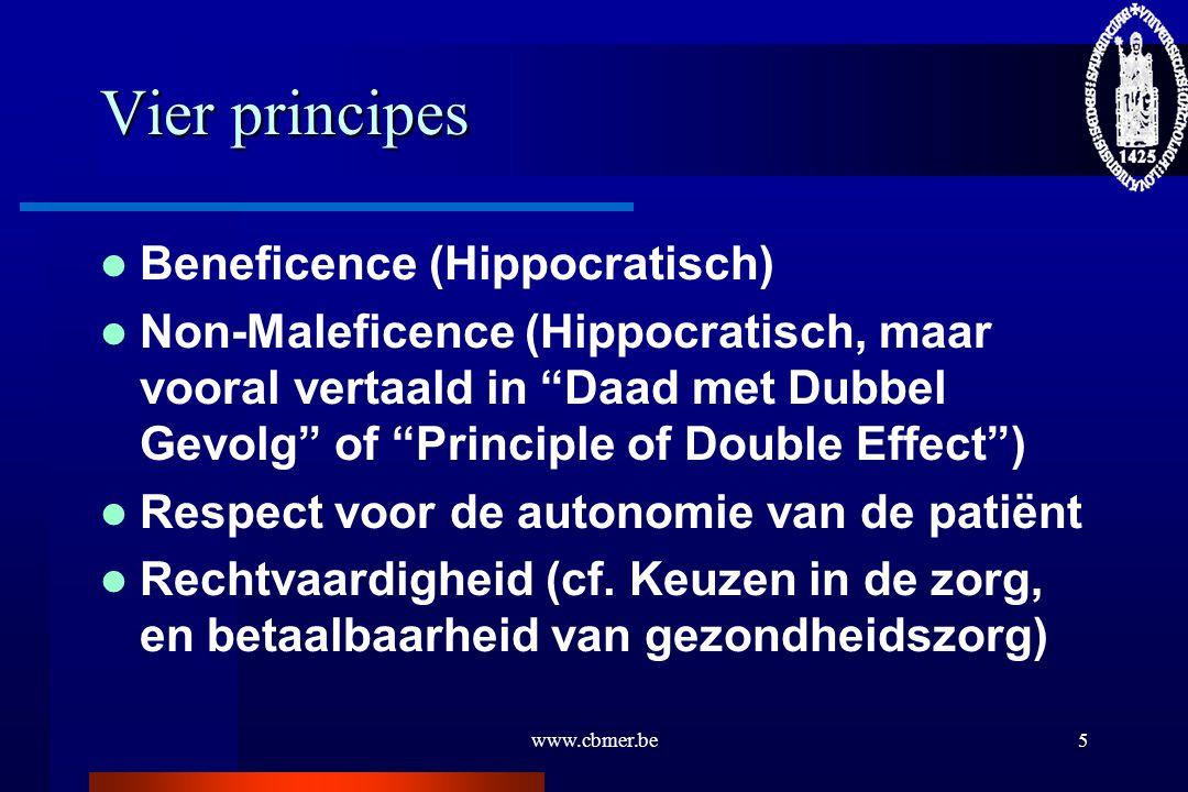 Vier principes Beneficence (Hippocratisch)