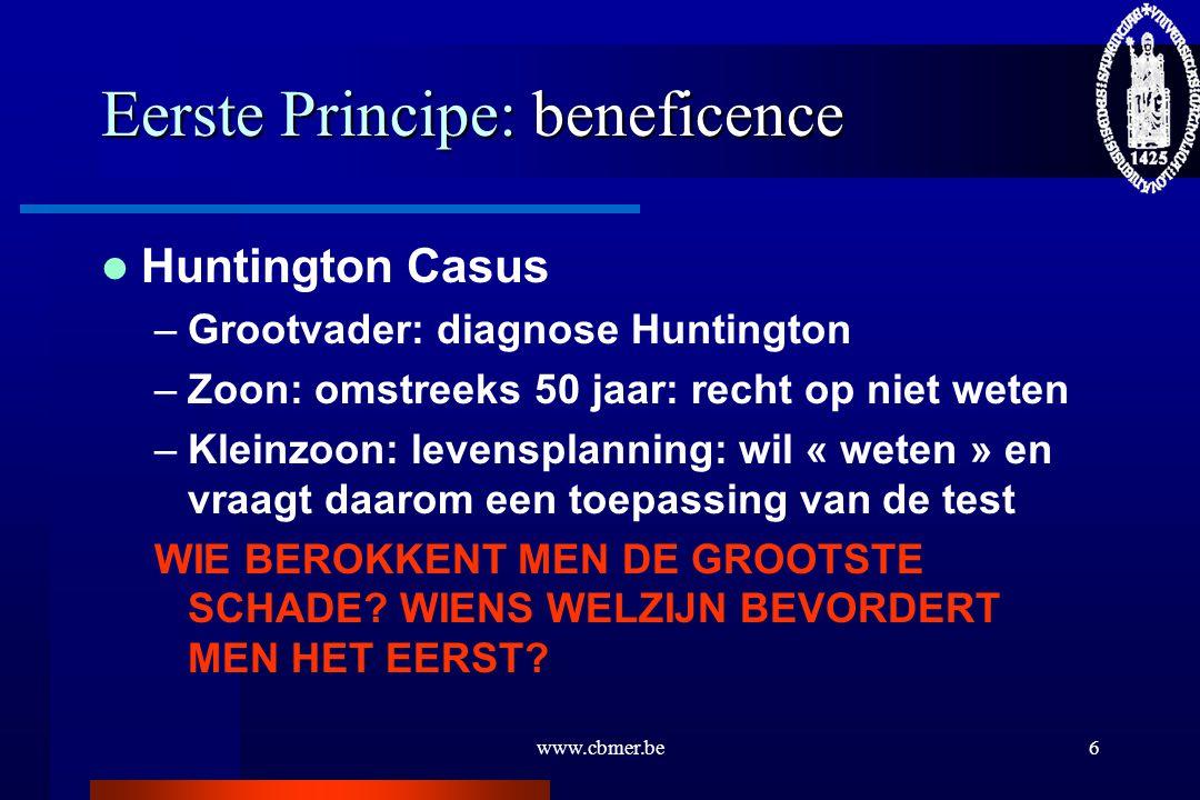 Eerste Principe: beneficence