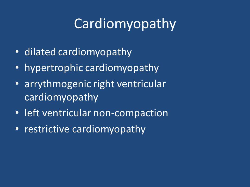 Cardiomyopathy dilated cardiomyopathy hypertrophic cardiomyopathy