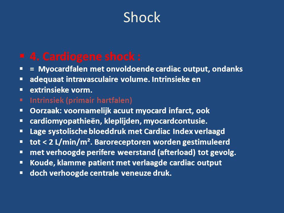 Shock 4. Cardiogene shock :