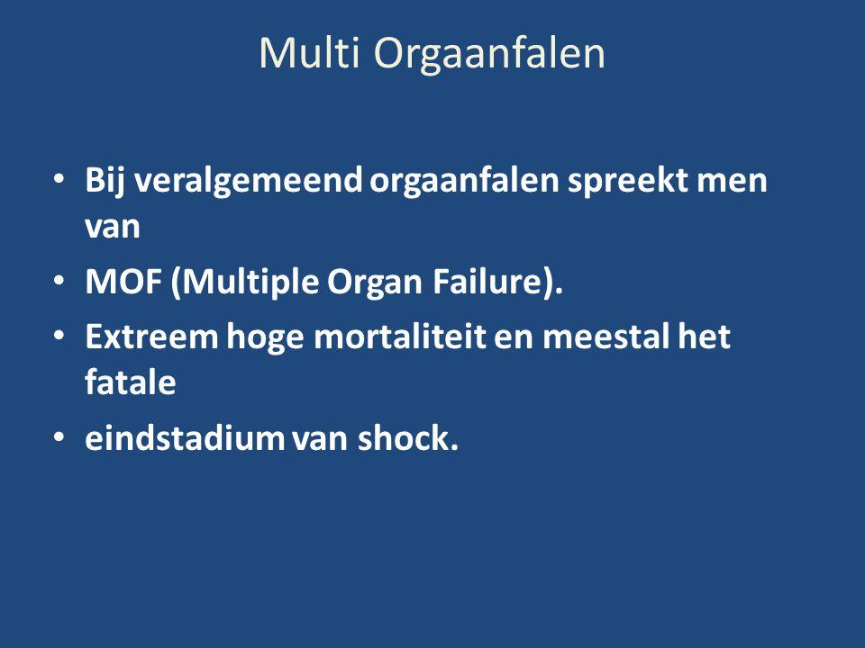 Multi Orgaanfalen Bij veralgemeend orgaanfalen spreekt men van