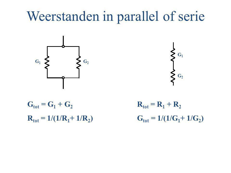 Weerstanden in parallel of serie