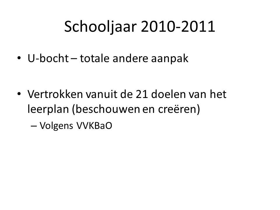 Schooljaar 2010-2011 U-bocht – totale andere aanpak