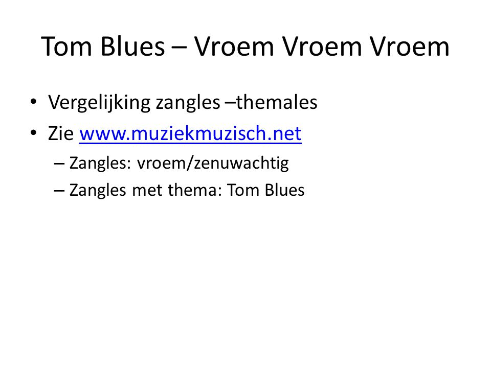 Tom Blues – Vroem Vroem Vroem