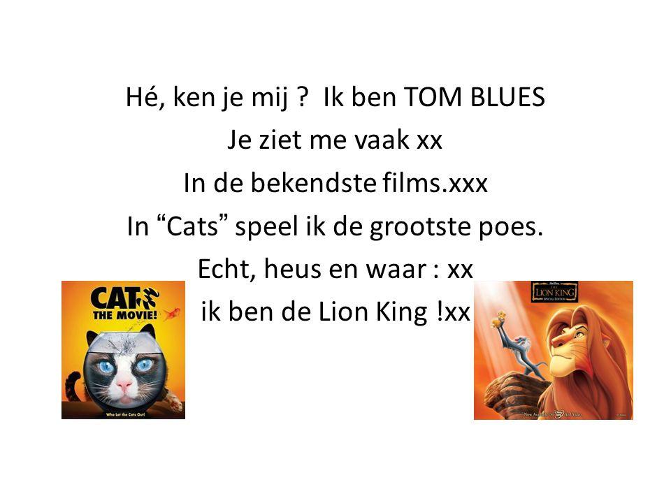 Hé, ken je mij Ik ben TOM BLUES Je ziet me vaak xx