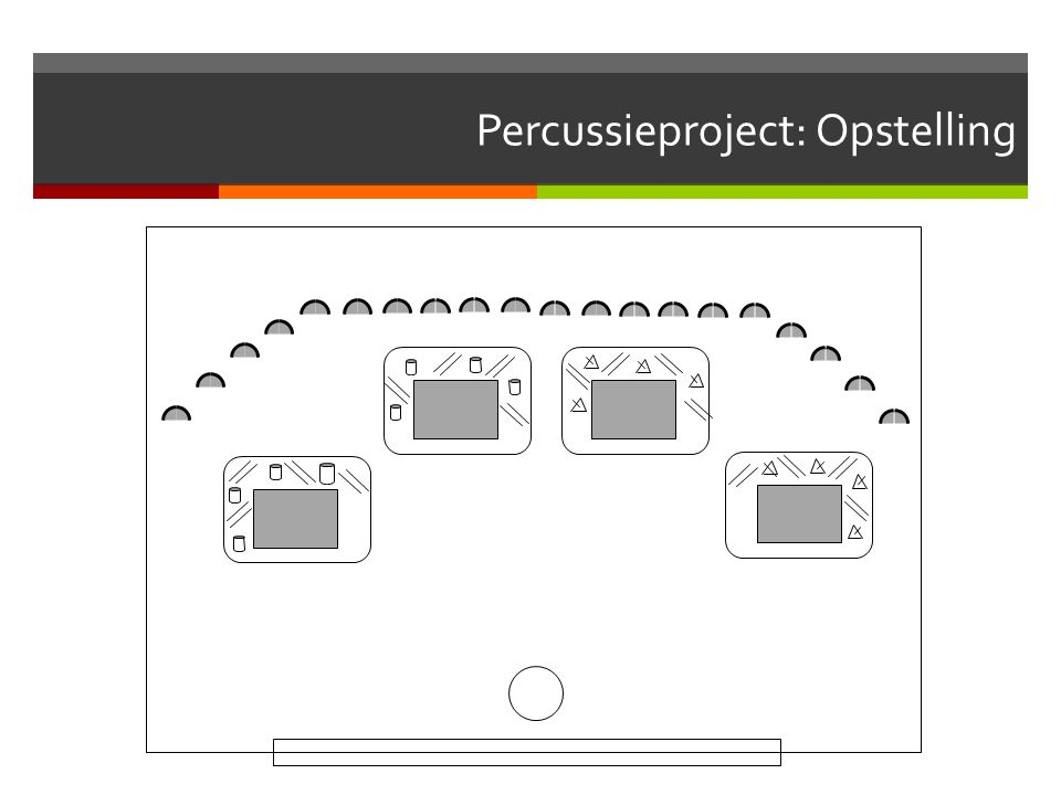 Percussieproject: Opstelling