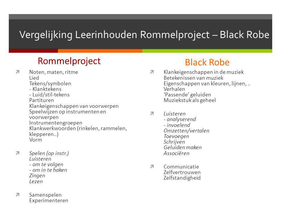 Vergelijking Leerinhouden Rommelproject – Black Robe