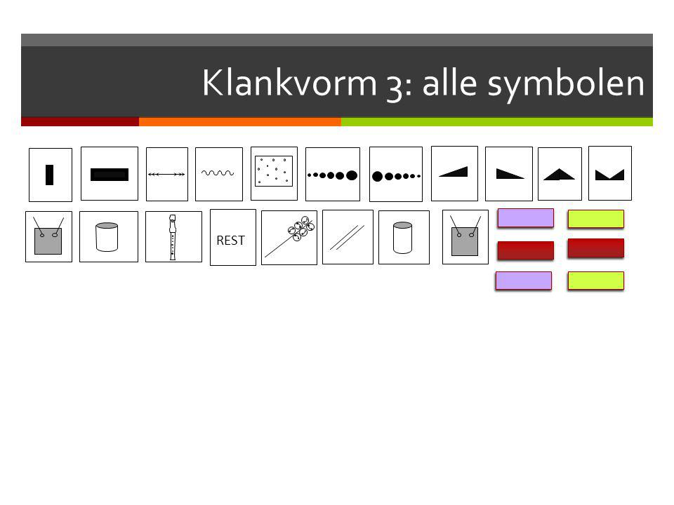 Klankvorm 3: alle symbolen