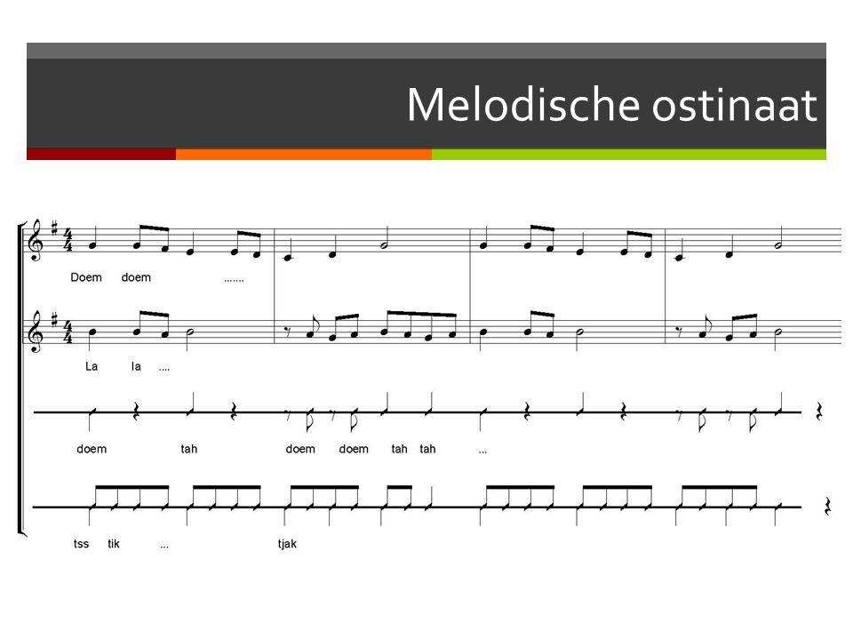 Melodische ostinaat
