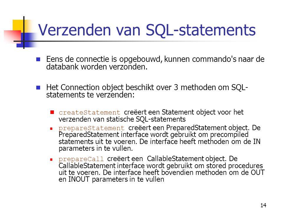 Verzenden van SQL-statements
