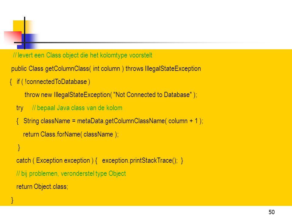 // levert een Class object die het kolomtype voorstelt